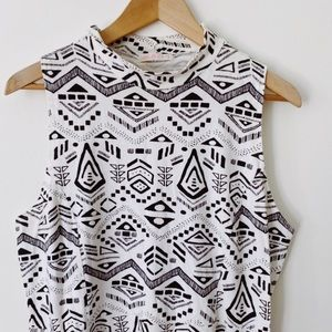 Ardène XL Stretch abstract print midi lenght fall dress
